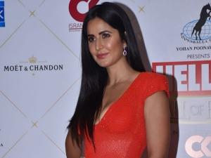 Katrina Kaif A Red Naeem Khan Gown Hello Hall Fame Awards