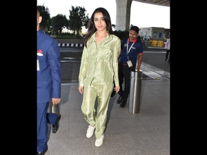Shraddha Kapoor Spotted At The Airport A Night Suit Inspired Outfit