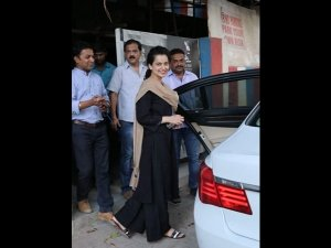 Kangana Ranaut Spotted Papped A Black Suit