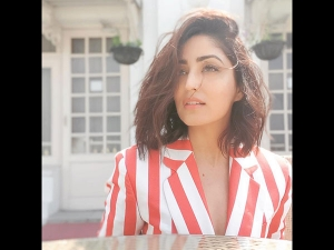 Yami Gautam In A Striped Pantsuit For An Event