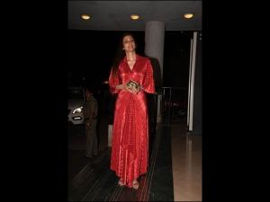 Tabu In An Amit Aggarwal Dress For Manoj Bajpayee S Birthday
