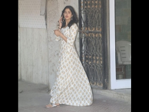 Janhvi Kapoor Spotted In A Floral Dress Outside Her Gym
