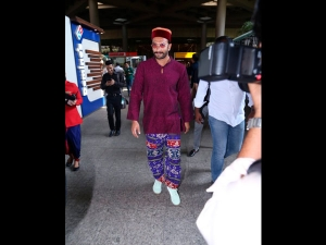 Ranveer Singh Spotted In A Quirky Airport Look