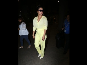 Priyanka Chopra Jonas Spotted In An All Yellow Airport Outfit