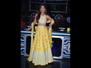 Shilpa Shetty Wears A Yellow Lehenga For Super Dancer
