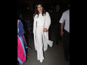 Priyanka Chopra Jonas Spotted In An All White Airport Outfit
