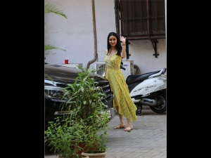Shraddha Kapoor Spotted In A Yellow Floral Dress