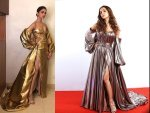 Deepika And Malaika In Metallic Gowns