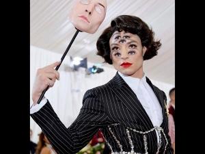 Ezra Miller Rocks The Trippy Look At Met Gala