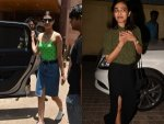 Kriti Sanon And Radhika Apte Spotted In Colour Blocked Outfi