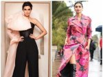 Diana Penty In A Floral Dress And An Evening Gown At Cannes