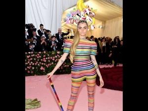 Cara Delevingne In A Dior Jumpsuit For Met Gala