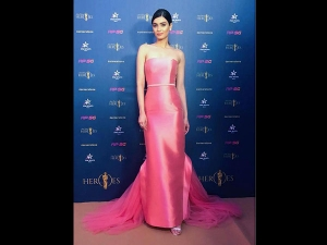 Diana Penty In A Pink Gown For A Cricket Event