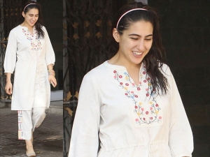 Sara Ali Khan Spotted In A Global Desi Outfit