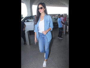 Katrina Kaif Spotted At The Airport In A Casual Denim Outfit