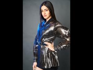 Ananya Panday In A Metallic Dress For Karan Johar S Party