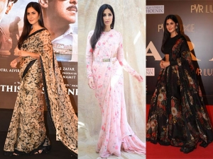 Katrina Kaif In Sabyaschi Outfits For Bharat Promotions