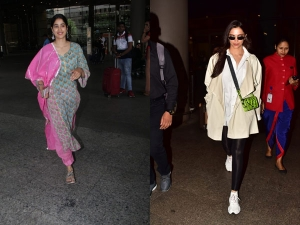Janhvi Kapoor And Deepika Padukone Spotted In These Outfits