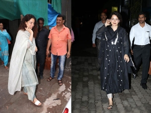 Kangana Ranaut Spotted In Traditional Suits