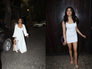 Masaba And Janhvi Kapoor Spotted In White Dresses