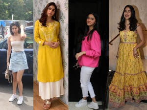 Khushi Sharmin Ananya And Janhvi Spotted In Casual Looks