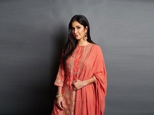 Katrina Kaif Sports A Red Silk Suit For Eid Festivities