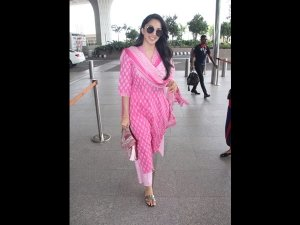 Kiara Advani Spotted At The Airport In A Pink Suit