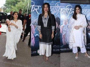 Janhvi Kapoor Sophie Choudry And Diana Penty In Ethnic Wears