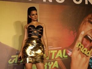Kangana Ranaut Sports A Bold Attire For The Trailer Launch