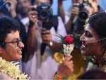 Indian Transgender Couple Tie Knot In Rainbow Wedding At West Bengal