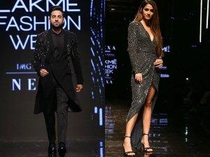 Disha Patani And Ayushmann Khurrana At The Lakme Fashion Week Winter Festive 2019