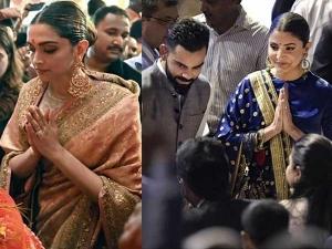 Deepika Padukone And Anushka Sharma In Ethnic Outfits By Sabyasachi
