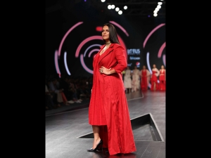 Neha Dhupia Flaunts Red Outfit At The Lotus Makeup India Fashion Week Ss20
