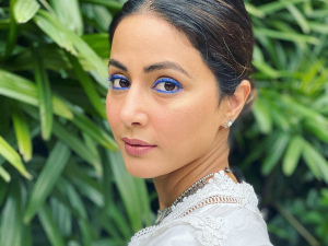 Hina Khan S Not So Impressive Blue Eyeliner Make Up Look
