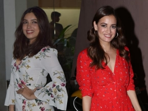 Bhumi Pednekar Dia Mirza Spotted In Dresses
