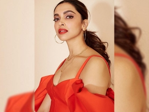 Deepika Padukone In A Red Dress For Anupama Chopra S Show