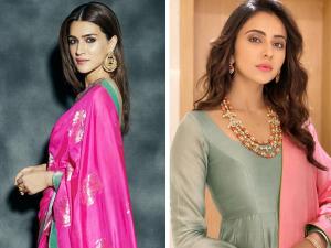 Bhumi Kriti Janhvi And Rakul In Soft Glam Make Up Looks