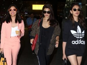 Jacqueline Fernandez Parineeti Chopra And Aditi Rao Hydari In Casual Outfits At Airport