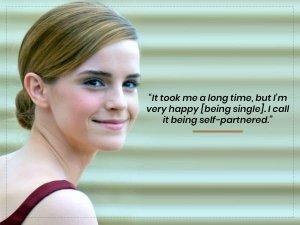 Emma Watson Coins New Term Self Partnered