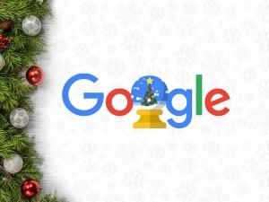 Google Doodle Wishes Happy Holidays 2019