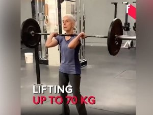 Anand Mahindra Prizes 72 Year Old Woman Workout Routine