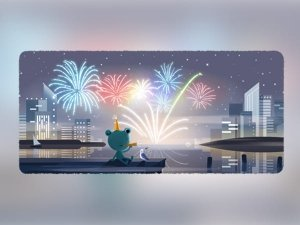 New Years Eve 2020 Google Doodle