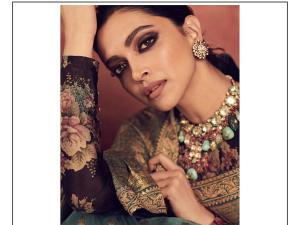 Deepika Padukone In Brown Smokey Eye Make Up
