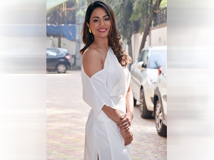 Hina Khan In A Refreshing White Dress For Hacked Promotions
