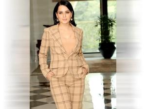 Kangana Ranaut In A Ralph Lauren Suit For Panga Promotions