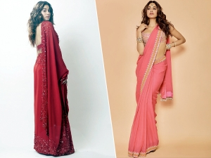 Janhvi Kapoor In A Pink And Red Sari For Reception And Umang 2020