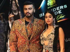 Janhvi Kapoor Arjun Kapoor Walked The Ramp For Anamika Khanna Blenders Pride Fashion Tour