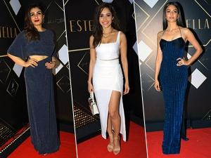 Raveena Tandon And Other Divas Fail To Impress Us At Sonaakshi Raaj Cocktail Event