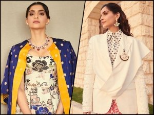 Sonam Kapoor Ahuja In Two Different Printed Dresses