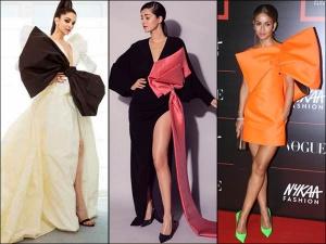 Deepika Padukone Natasha Poonawalla And Ananya Panday Bow Inspired Dresses